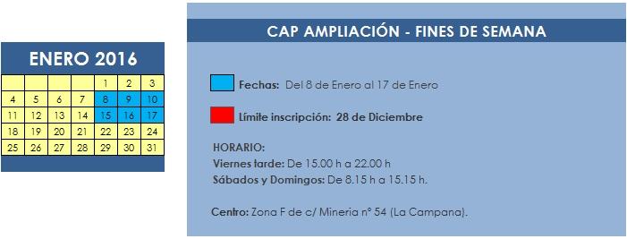 CAP AMPLIACION FINDES (ENERO 2016)