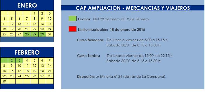 CAP AMPLIACION INTENSIVO (ENERO 2016)