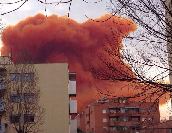 Explosió i incendi a Igualada -1